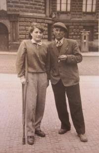 Anna Plesníková s tatínkem