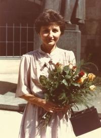 RNDr. Jiřina Nováková, kandidátská promoce v Karolinu, Praha 1982