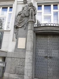 Původní dveře bývalého Muzea Jindřicha Waldese, Praha Vršovice