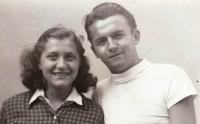 Emil Císař, a friend and a fellow prisoner, Rosice, 1948