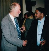 S jihoafrickým velvyslancem, Praha, 2003