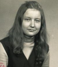 JIndra Lisalová v době vysokoškolských studií