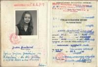 Vysokoškolský index JIndry Lisalové