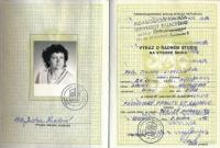 Index Jindry Lisalové v době postgraduálního studia v Olomouci