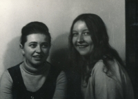 Jindra Lisalová na vysoké škole, asi 1971