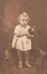 Jaroslava Blešová jako dítě