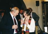 S Jiřím Millerem na křtu knihy The Velvet Philosophers