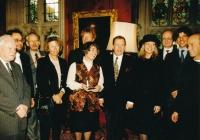 S Václavem Havlem, Alanem Montefiore, Catherine Audard a dalšími v Oxfordu, 1998
