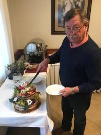 Vladimír Martinec v roce 2019 při oslavě svých 70. narozenin