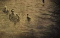 Witness's father Emil Klem (left), bathing, Austria 1940s