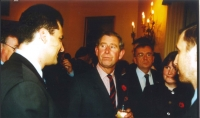 With the princ Charles in 2000