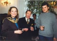 With Václav Havel and his wife Dagmar in 2000