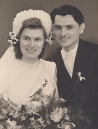 Ludmila a Jaroslav Severinovi, svatební fotografie