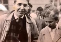 S manželkou Evou v prvomájovém průvodu 1960