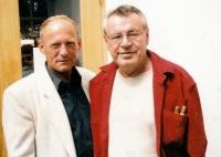 Jan Líman s Milošem Formanem v roce 1997 v Poděbradech