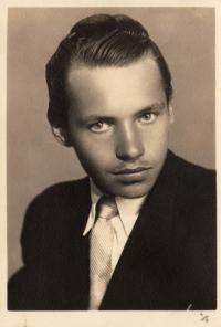 Jeden z hlavních členů odbojové skupiny Ladislav Vyskočil, počátek 50. let
