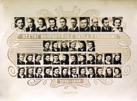 State Housing School in Chrudim, Jarmila Bartošíková second from the left in the second row from below, in 1948/1949