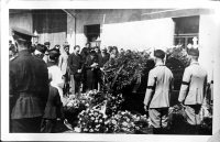 Funeral of the father František Dvořák in August 1937