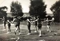 Set training on XI. All-Sokol Rally (1948), in which Jarmila Bartošíková participated