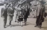 Soňa Antošová s rodinou v Litomyšli v období po záboru Sudet