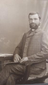Rudolf Chalupa, otec Zdislava Chalupy, cca 1905