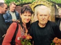 S vnučkou Vitou, 90 let, rok 2017