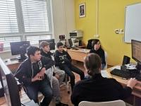 Students team at workshop