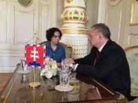 Denisa Havrľová s prezidentom SR Andrejom Kiskom.