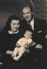 S manželem a dcerou