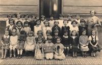 Šárka Růžková v první třídě