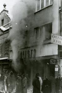 Požár obchodu U Šulistů, leden 1939