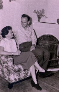 S manželkou Boženou, 1957