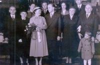 Sňatek Václava Šulisty a Boženy Fukové, 1957