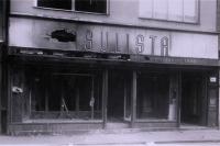 Vyhořelý obchod U Šulistů, leden 1939