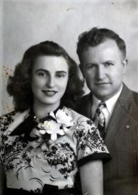 Sestra Leante Janderová Rita s manželem, bývalým seržantem US Army