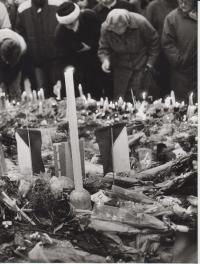 Místo uctění demonstrantů 1989