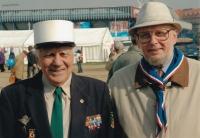 Stanislav Žalud a skaut Jar. Čermák zvaný De Gaulle, 1. května 1990