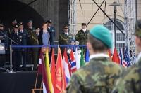 Jarmila Halbrštátová se účastní slavnostní vojenské přísahy