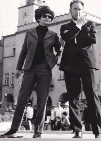 Stanislav Žalud a Božena Kostuchová, Nový Jičín, 1968