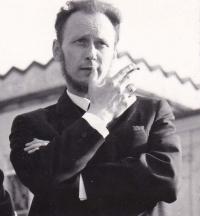 Stanislav Žalud v době Pražského jara v N. Jičíně na mítingu s občany