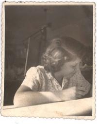 Při práci v podniku Stavoprojekt, 1952