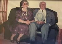 Jiřina Hajná with her husband Boris, 1990s