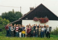Jeden z každoročních srazů rodiny Bubeníkových, Rájov, 2001.