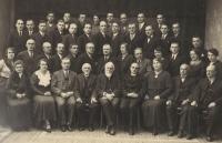 Cecilská hudební jednota v Ústí nad Orlicí, 1933, Karel Štancl nahoře druhý zleva