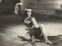 Eva Kudrnáčová na představení v Ústí nad Orlicí, cca 1953