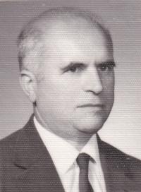 Husband Boris Hajný (1922–1996), a Volhynian Czech