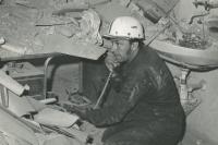 Nepovedený odstřel v lomu PCV Prachovice  22. 4. 1977