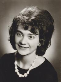 Iva Bejčková v maturitním ročníku
