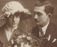 Svatba Jindřišky Zychové a Františka Okenfuse, 1922