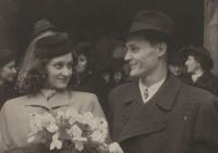 Svatba Evy s Emanuelem Kudrnáčem, 22. prosince 1944